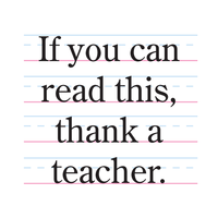 Teachers do great things!